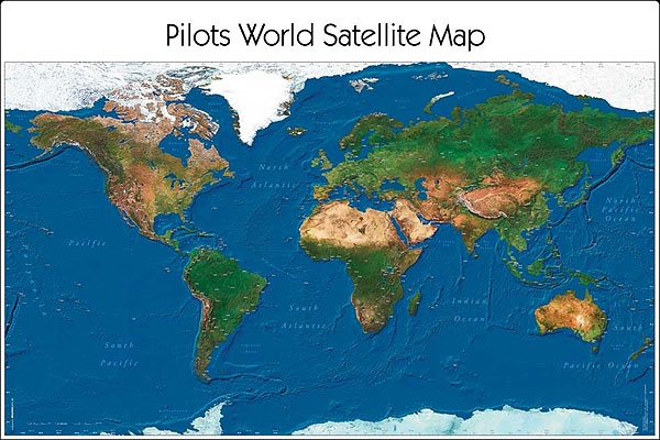 World Satellite Map Skriveunderlag